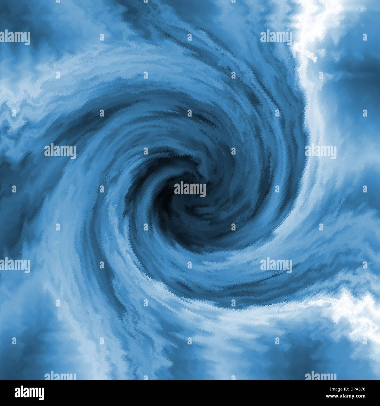 Blue Abstract Swirl Tornado Background Stock Photo