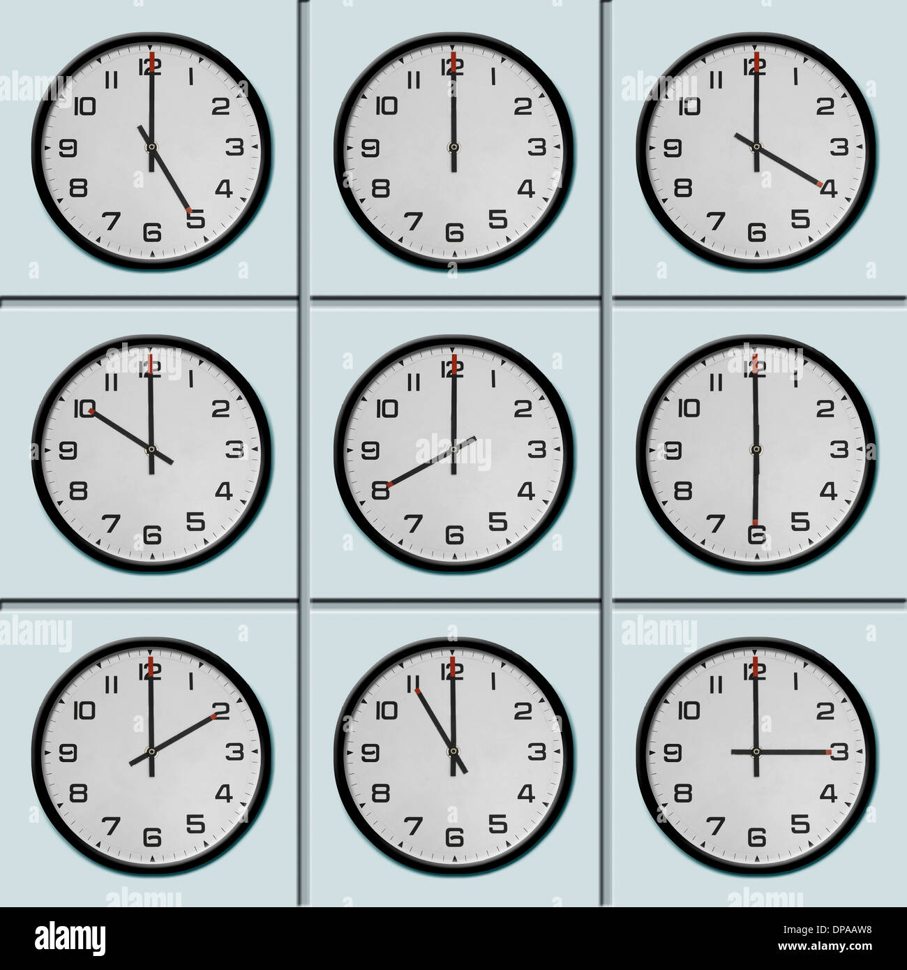 Clocks with different time zone Stock Photo: 65381604 - Alamy