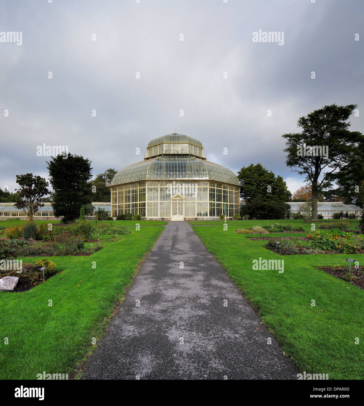 The Main Glasshouse Of The National Botanic Gardens In Dublin, Ireland.  Built In 1884 When The Previous Glasshouse Was Damaged