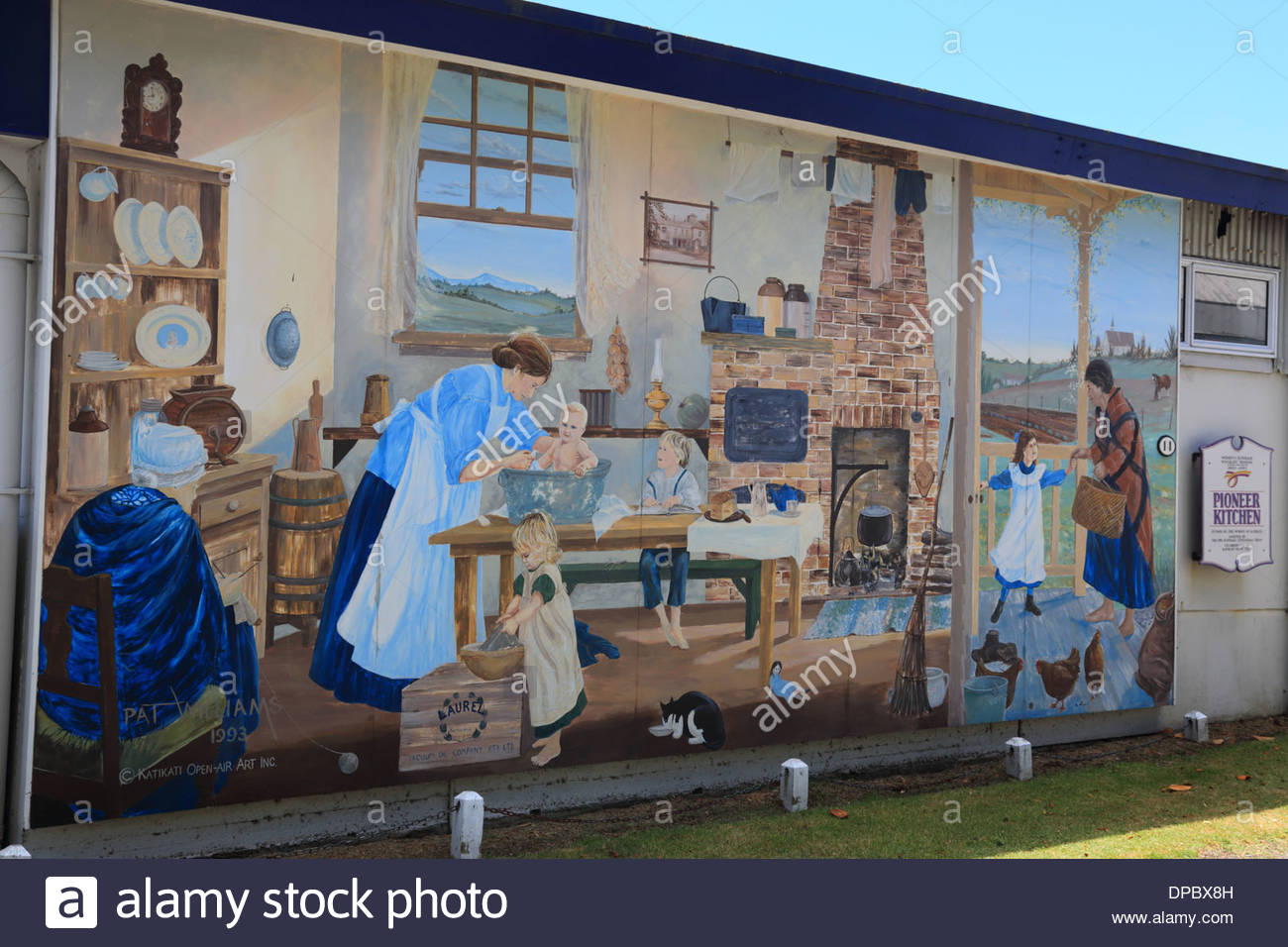 Kitchen Mural Pioneer Kitchen Mural Katikati New Zealand Stock Photo Royalty