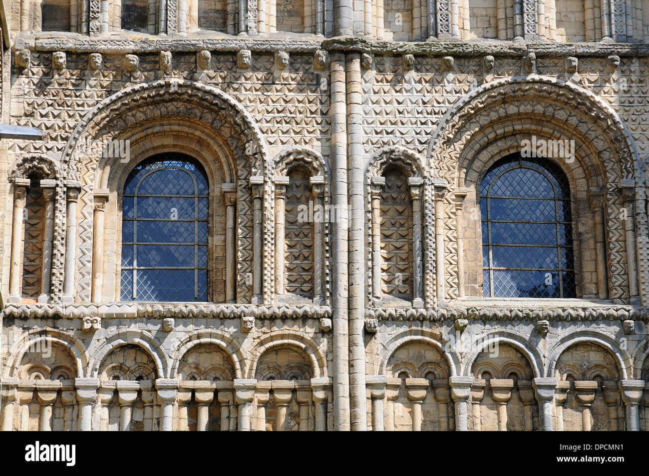 Norman Romanesque Arches Ely Cathedral