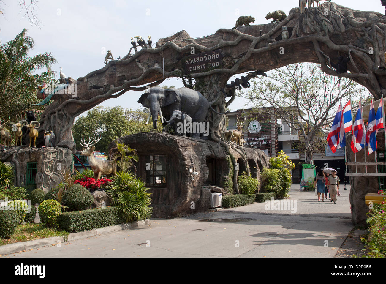 Entrance to Dusit Zoo Bangkok Stock Photo, Royalty Free ...
