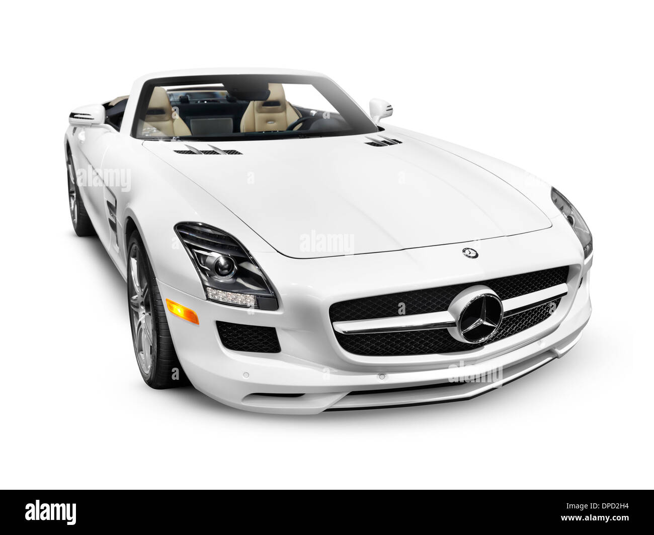 2012 Mercedes Benz Sls Amg Gt Roadster Sports Car Isolated