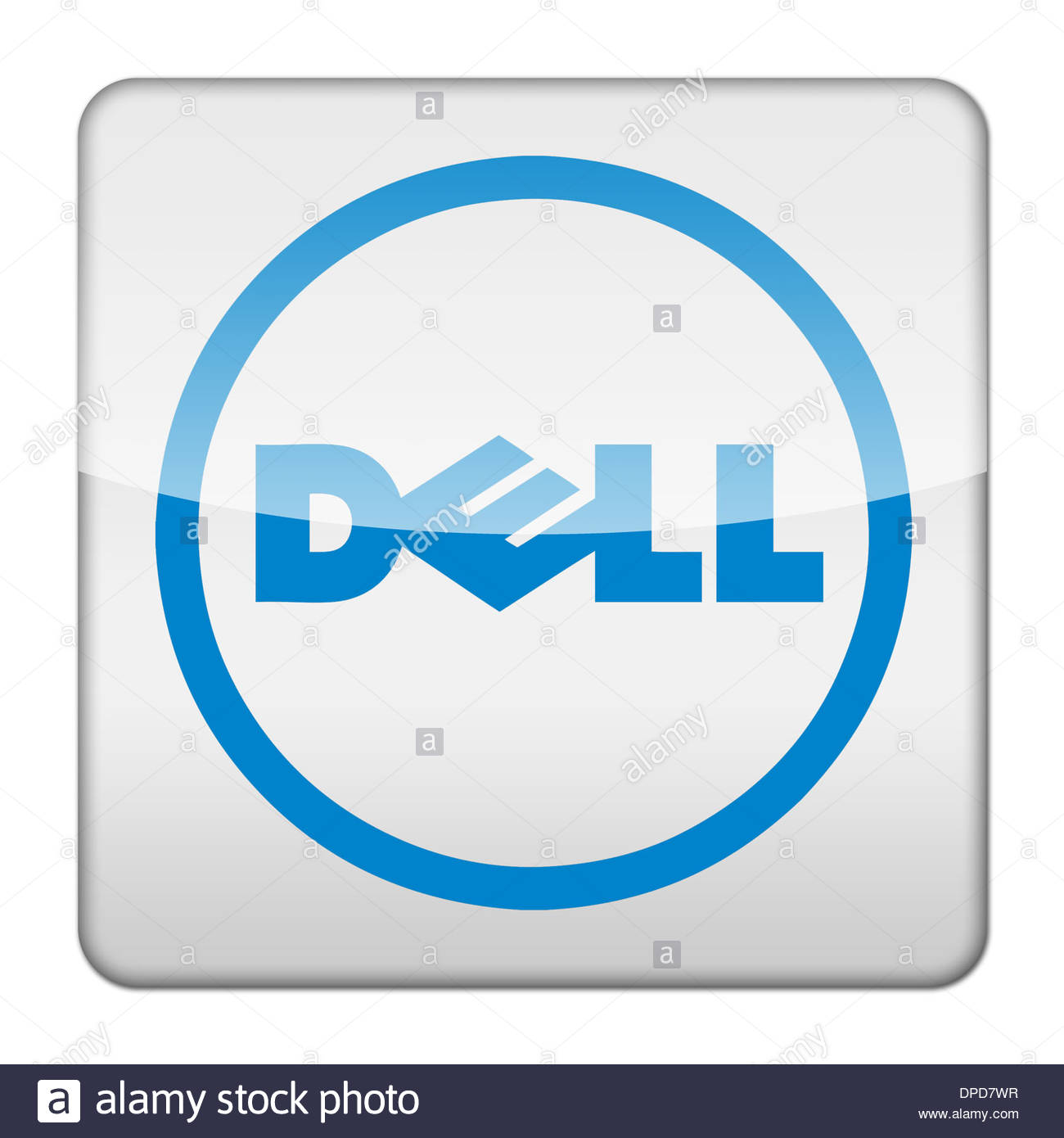 Dell computers logo icon app flag button stock photo 65445123 alamy dell computers logo icon app flag button biocorpaavc Images