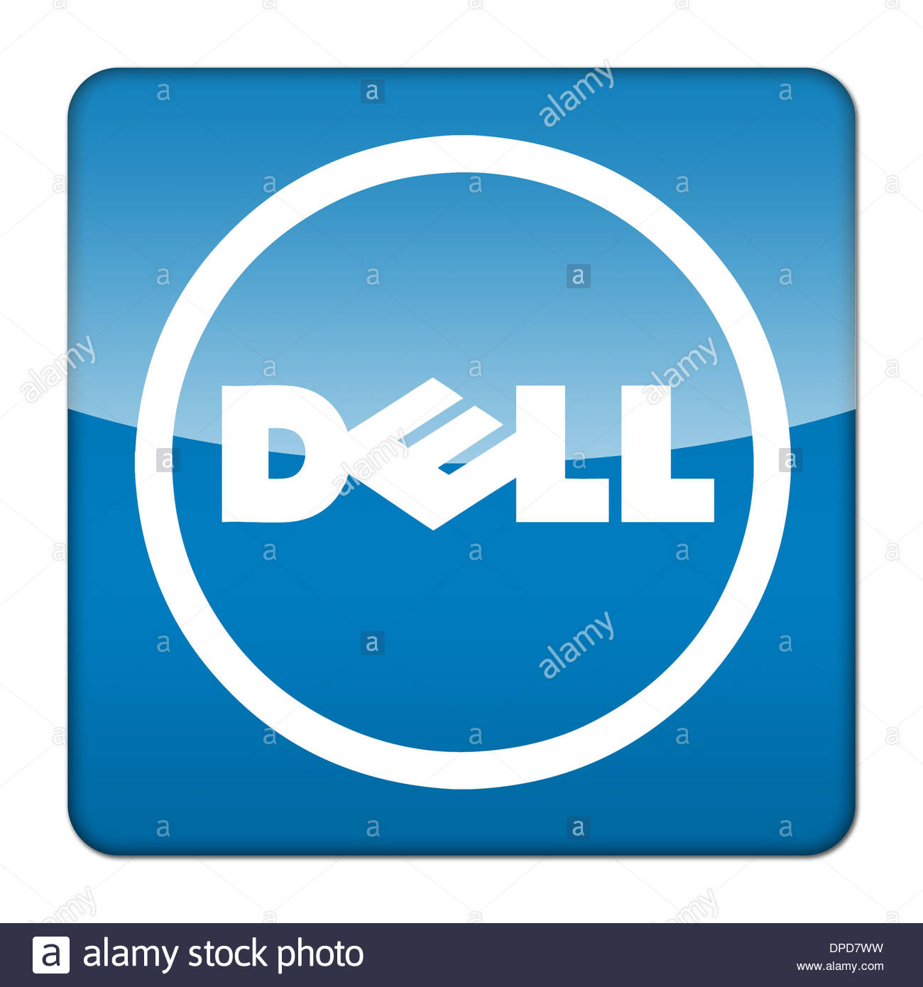 Dell computers logo icon app flag button stock photo 65445125 alamy dell computers logo icon app flag button biocorpaavc Images