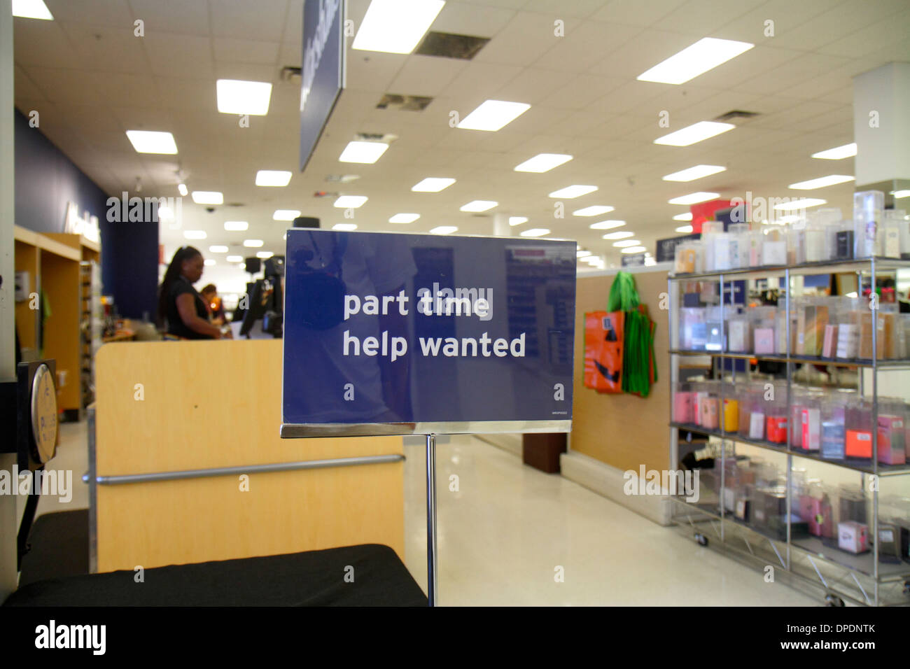 Miami Florida Marshalls Discount Department Store Shopping Part Time Help Wanted Sign Retail Employment