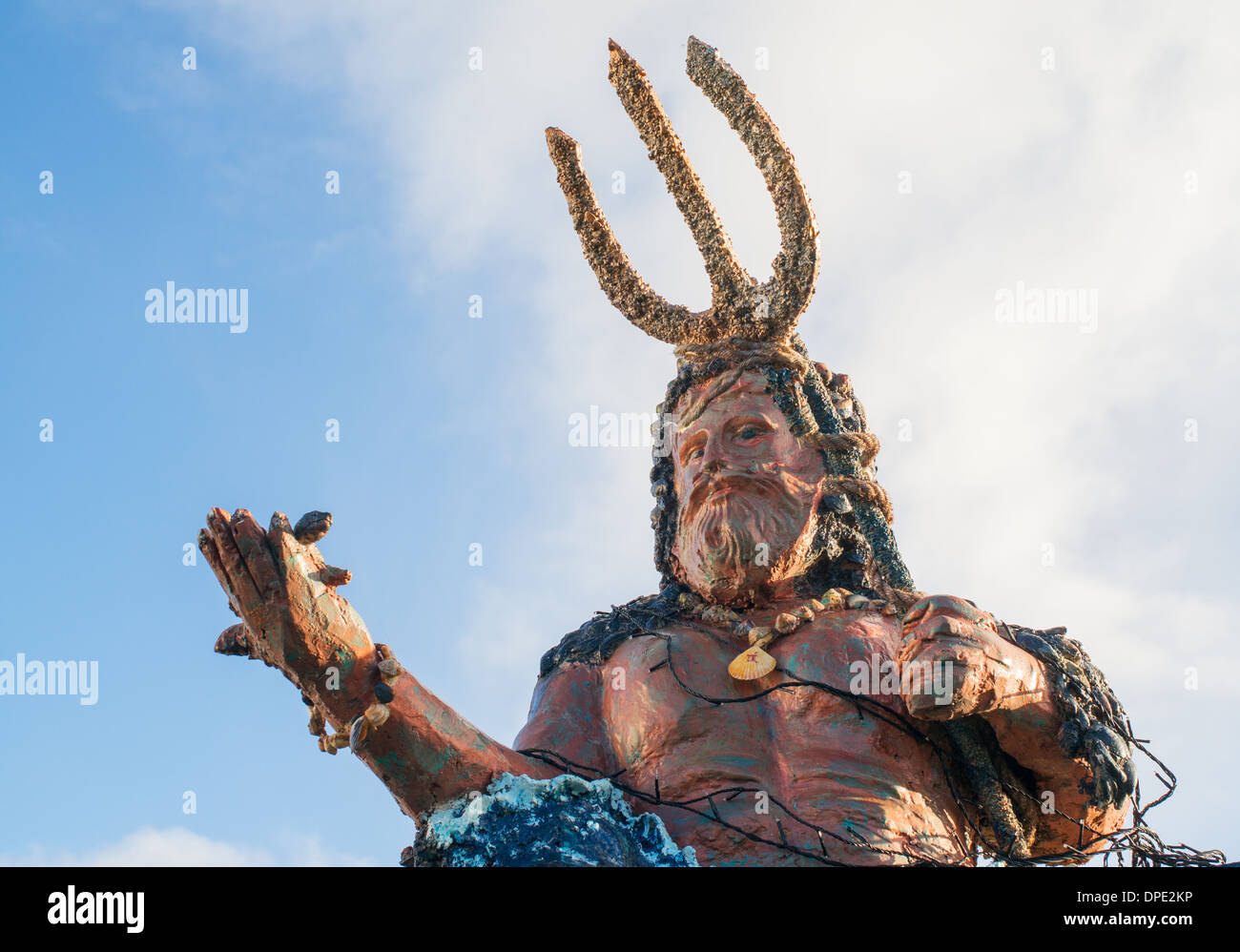 sculpture assumed to be depicting poseidon the greek god of the