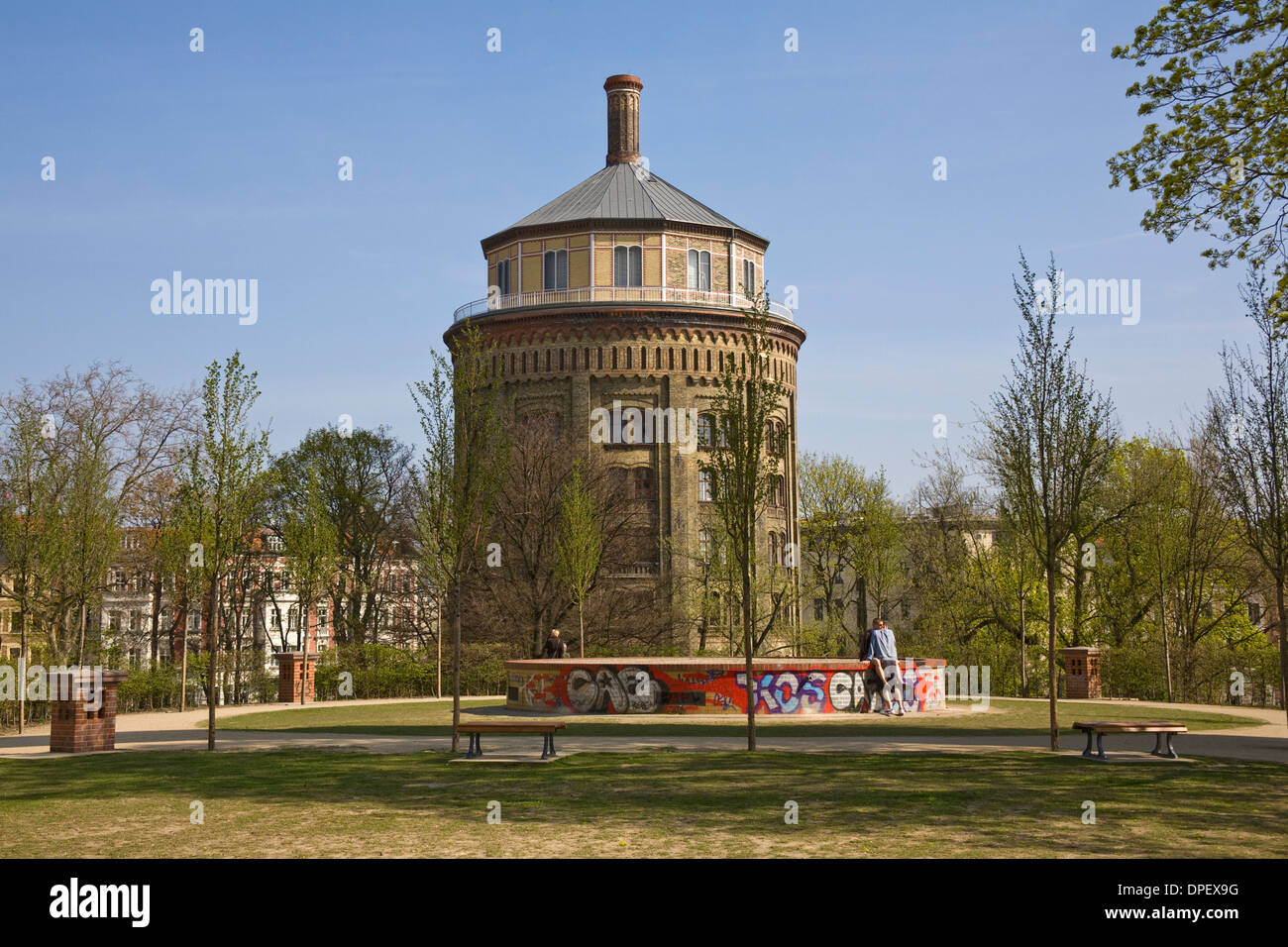 prenzlauer berg water tower pankow berlin germany stock photo royalty free image 65481516. Black Bedroom Furniture Sets. Home Design Ideas