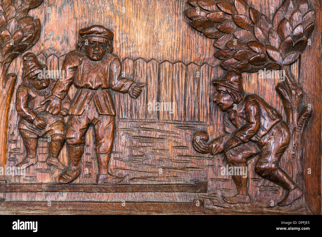 Wood carving on furniture panels stock photo royalty free