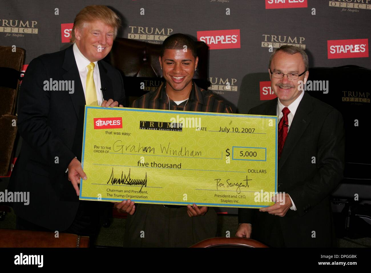 july 9 2006 new york new york us press conference at staples to introduce trump office furniturebroadway and 81st street new york new york broadway green office furniture