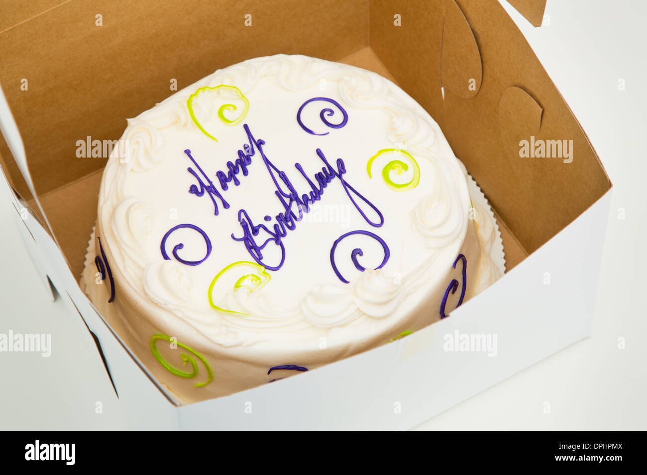 High angle view of birthday cake in box & High angle view of birthday cake in box Stock Photo Royalty Free ... Aboutintivar.Com