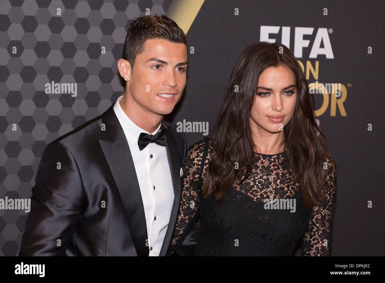 Zurich, Switzerland. 13th Jan, 2014. (L-R) Cristiano ... Irina Shayk Cristiano Ronaldo 2014