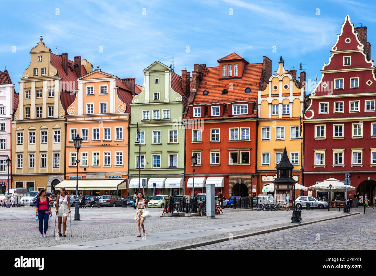 Colourful Medieval Houses In Wroclaw 39 S Old Town Market