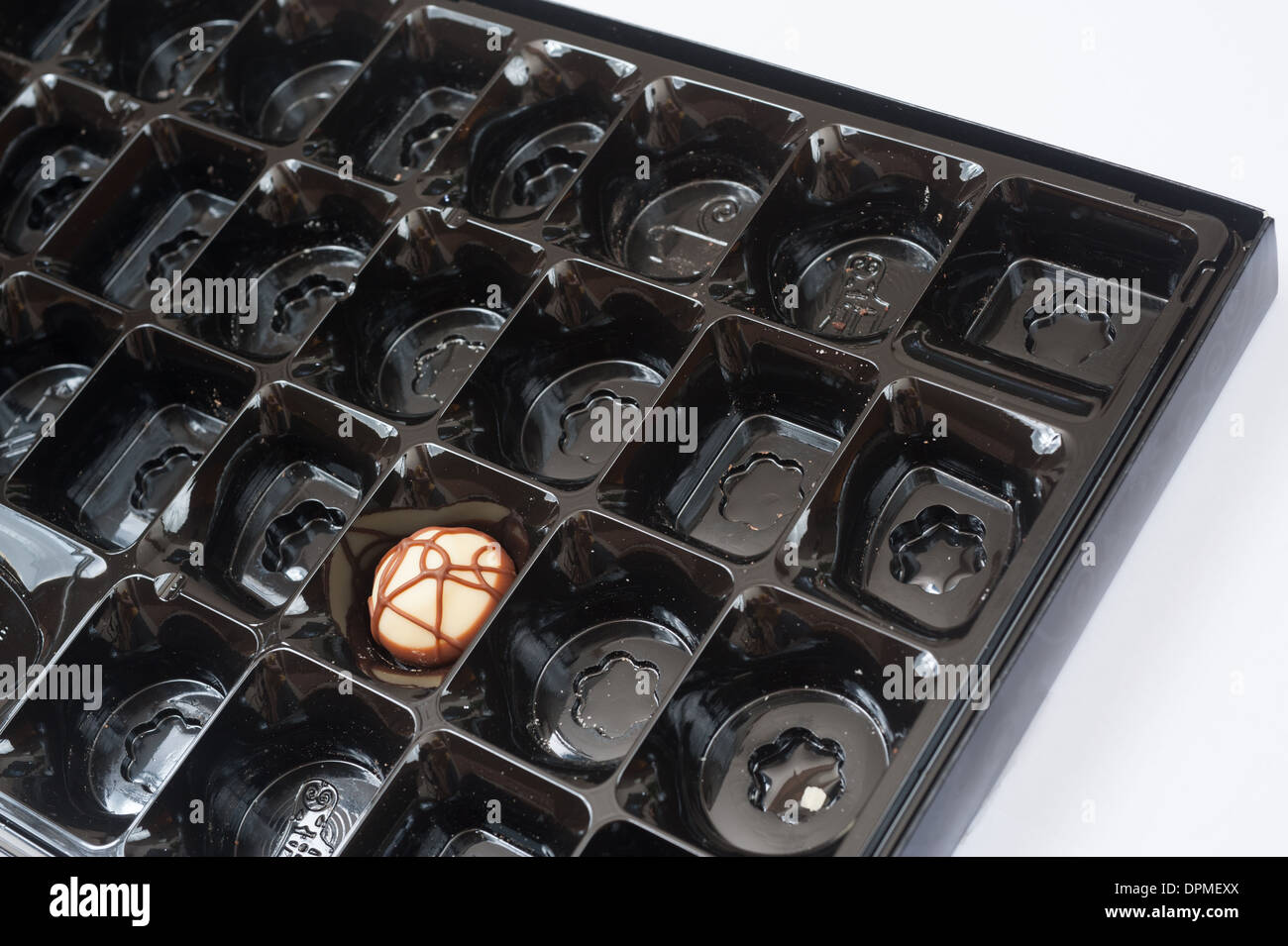 Last chocolate in a Thorntons box of chocolates Stock Photo ...