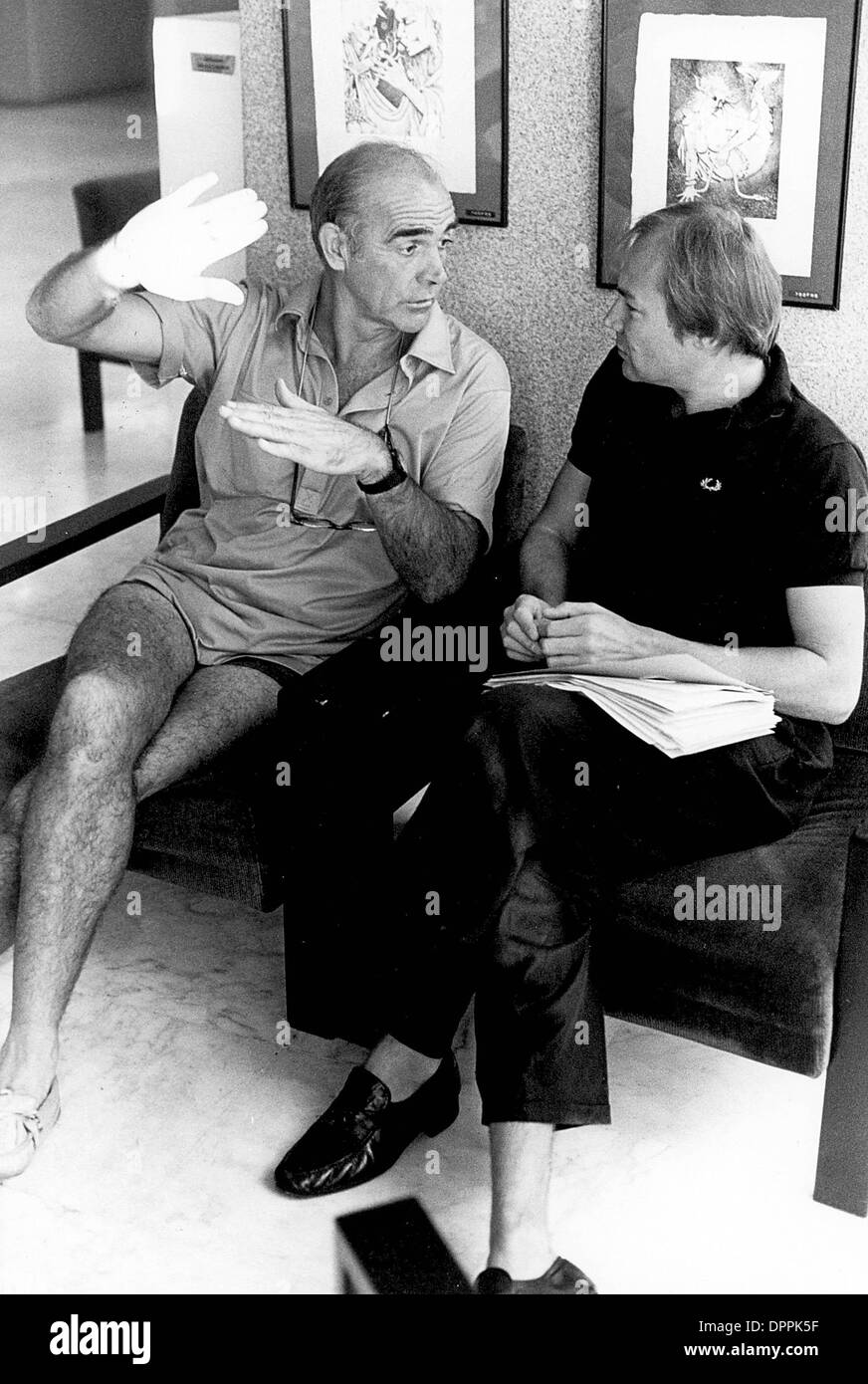 apr 6 2006 sean connery with klaus maria brandauer 1982 stock photo royalty free image. Black Bedroom Furniture Sets. Home Design Ideas