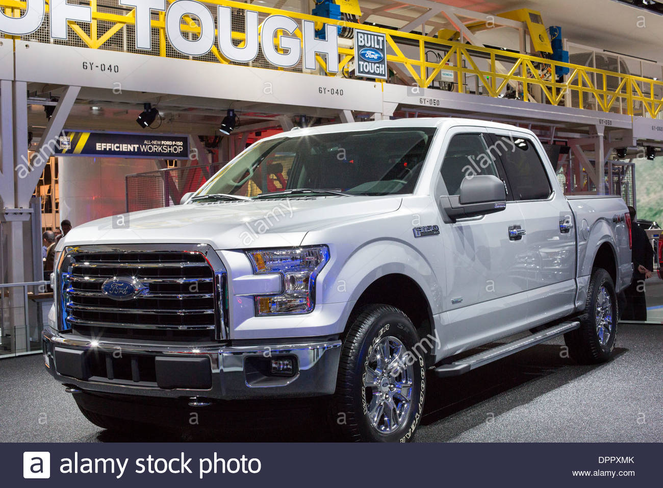 Detroit michigan the ford f 150 4x4 pickup truck on display at the