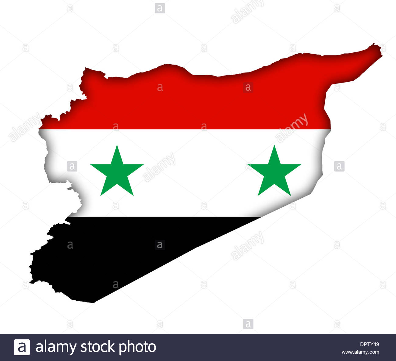 Syria Flag Banner Icon Map Plan Stock Photo Royalty Free Image - Syria flag
