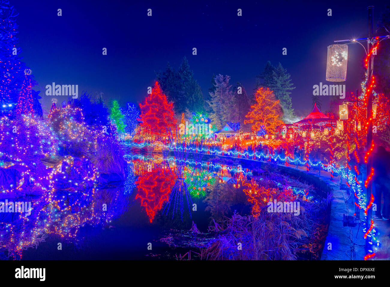 Festival of Lights VanDusen Botanical Garden Vancouver British