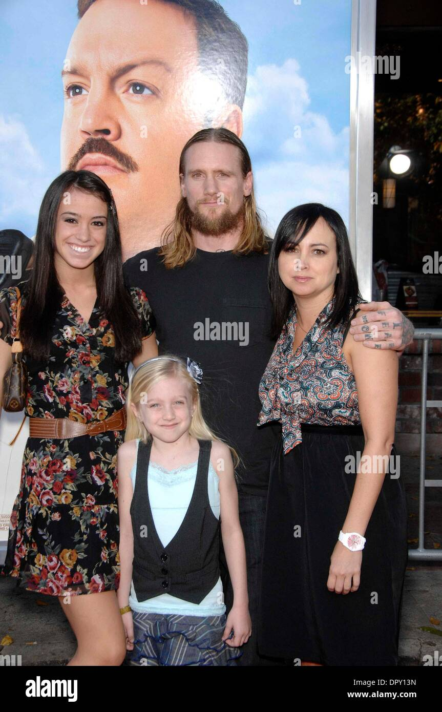 Emily And Mike  Emily Vallely, Mike Vallely, Ann Vallely and Lucy Vallely during the  premiere of the new movie from Columbia Pictures, Paul Blart: Mall Cop held  at the Mann ...