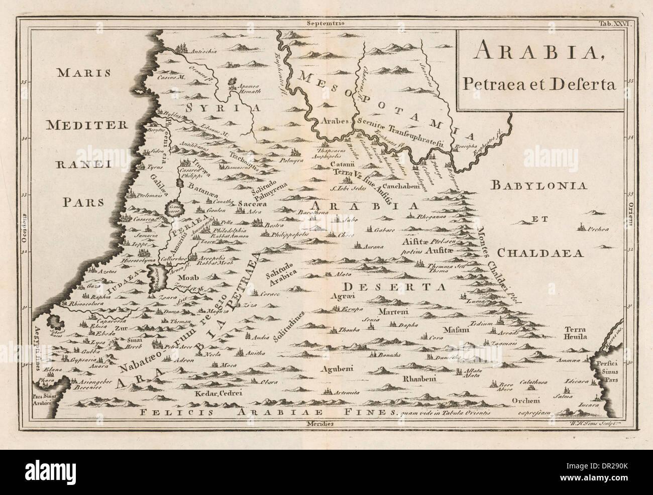 Map Of Arabia Deserta Photo Royalty Free Image 65819171 – Map of Arabia
