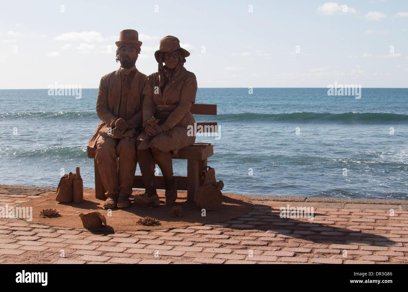 Sea front living statue maspalomas gran canaria stock - Living in gran canaria ...