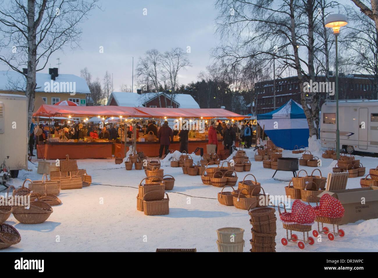Market Booth Jokkmokk Fair Laponia Sweden Winter Stock Photo - Jokkmokk sweden map