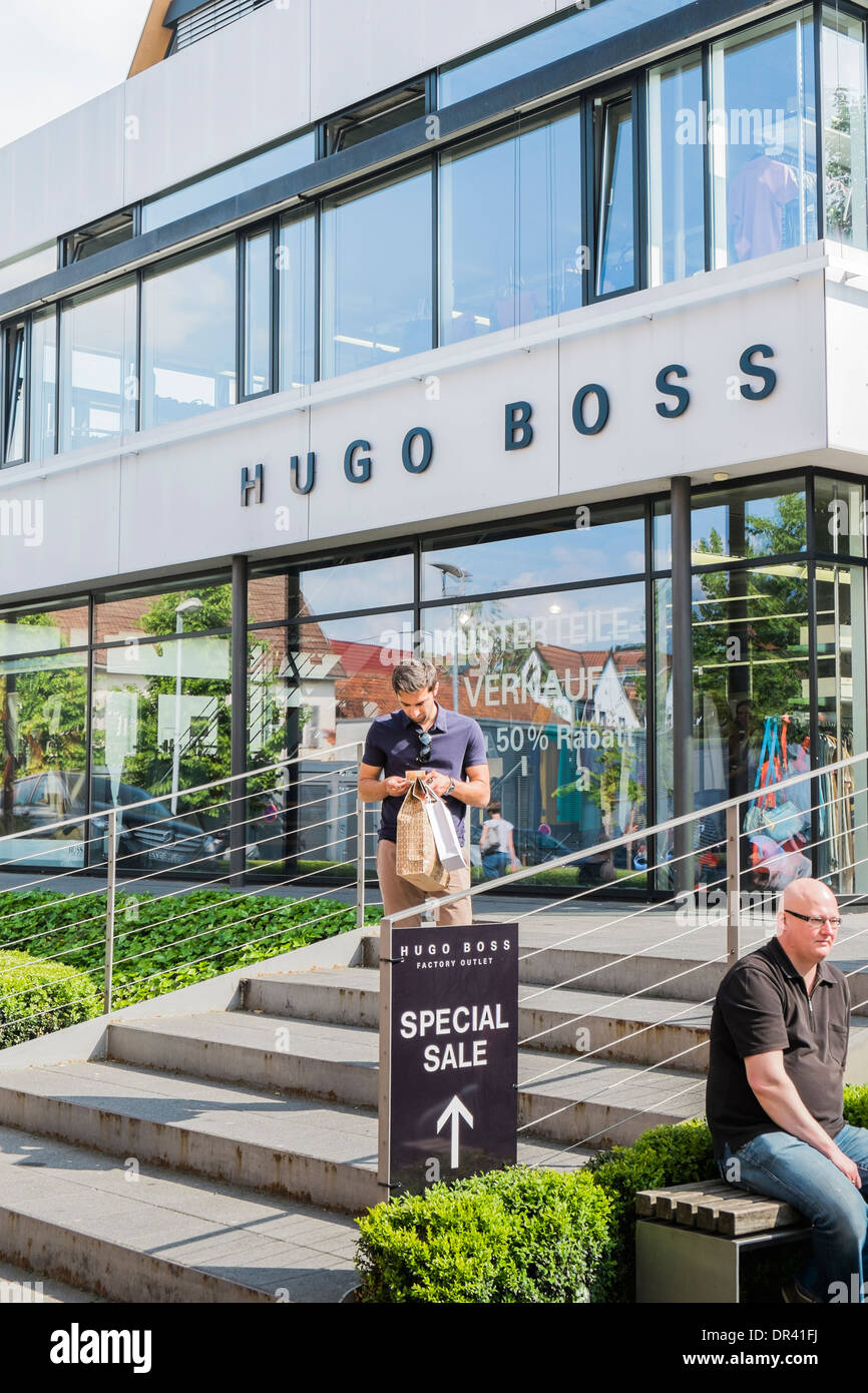 hugo boss sample sale outlet on the premises of the outlet city stock photo royalty free image. Black Bedroom Furniture Sets. Home Design Ideas