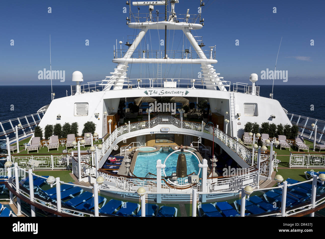 Looking Aft To The Sanctuary On The Ccaribbean Princess Cruise - What is the aft of a cruise ship