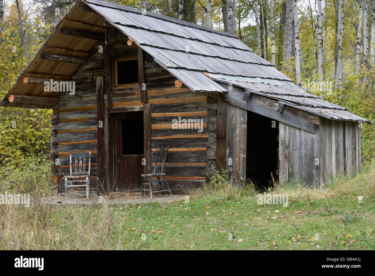 Restored Log Cabin Ghost Town Of Quesnel Forks British
