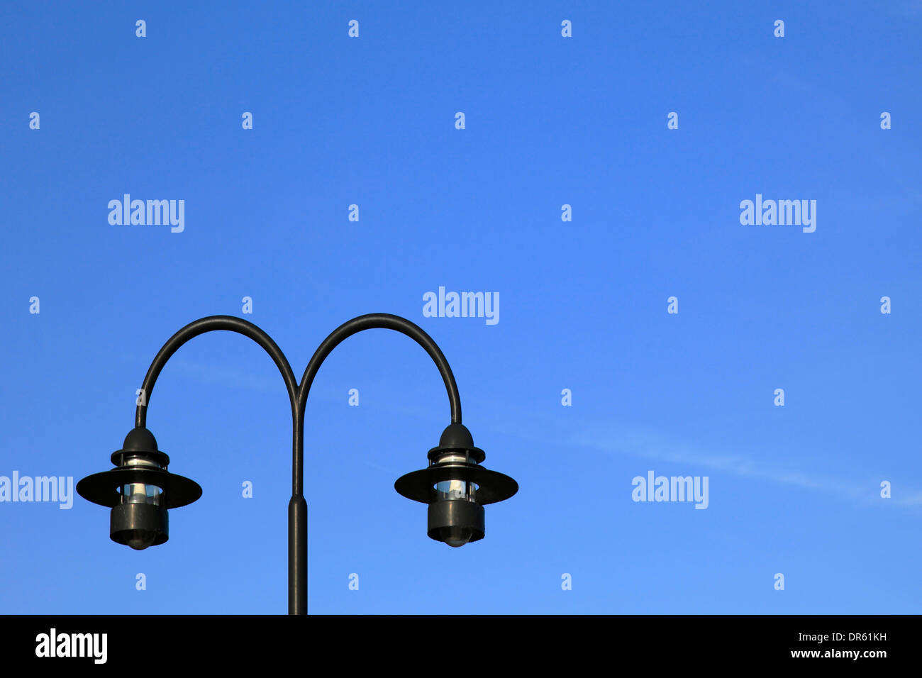 Modern street lamps against blue sky Stock Photo, Royalty Free ... for Modern Street Lamps  289hul