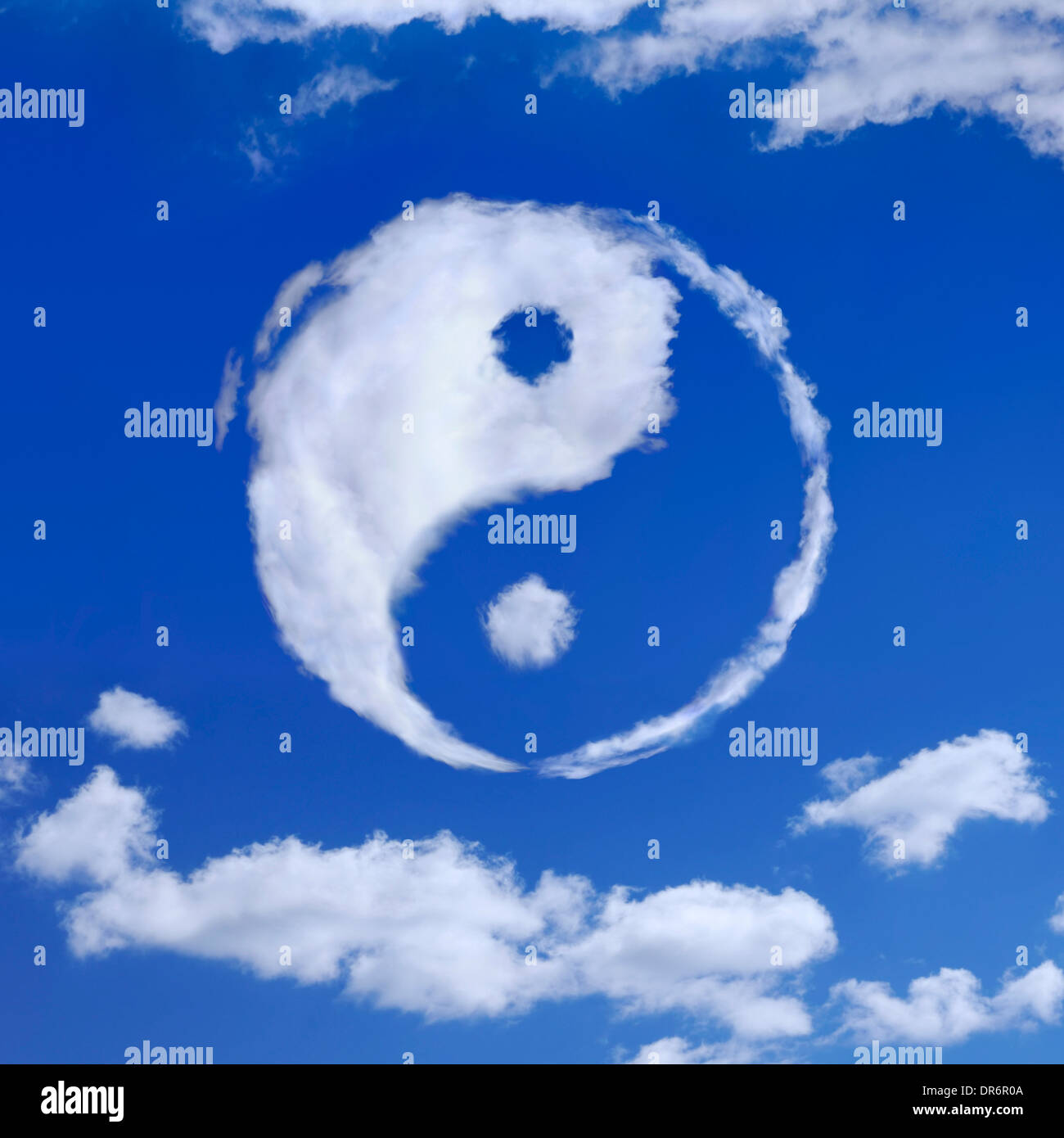 Worksheet What Clouds Made Of yin yang spiritual symbol made from white clouds in blue sky stock photo meditation spirituality concept