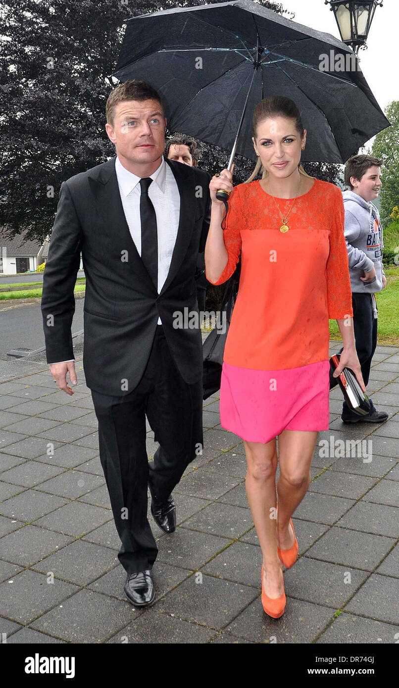 Brian ODriscoll And Amy Huberman The Wedding Of Model Aoife Cogan Rugby Star Gordon DArcy Held At St Macartans Cathedral Monaghan Ireland