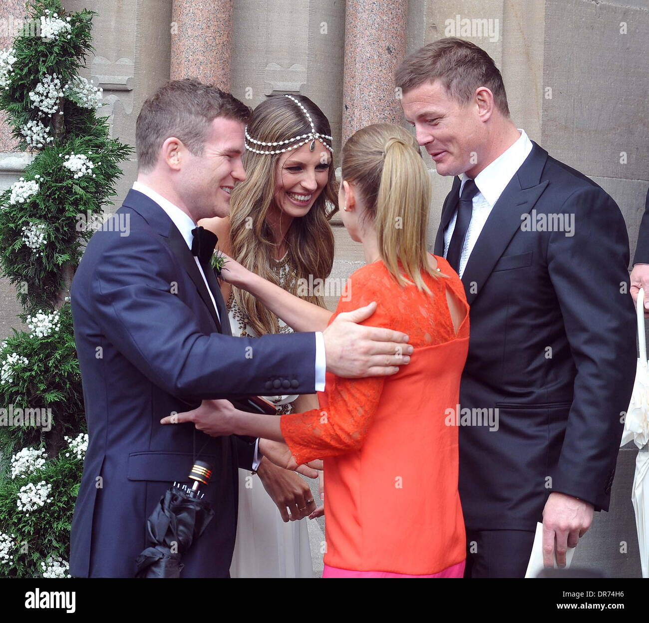 Gordon DArcy Aoife Cogan Brian ODriscoll And Amy Huberman The Wedding Of Model Rugby Star Held At St Macartans