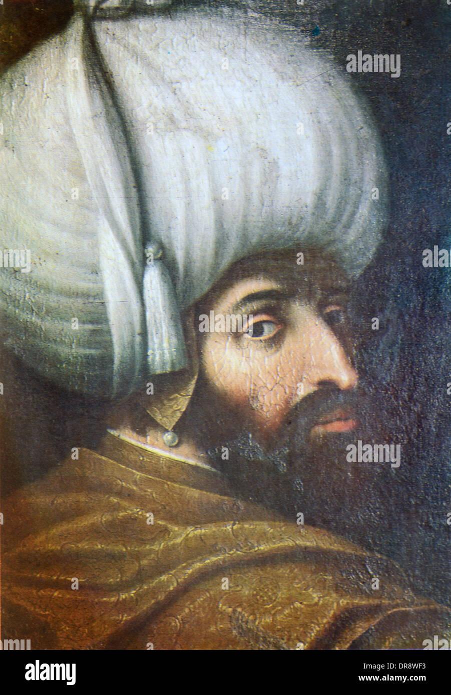 Ottoman Turkish Sultan Beyezid I (1354-1403) or Beyazit I ...