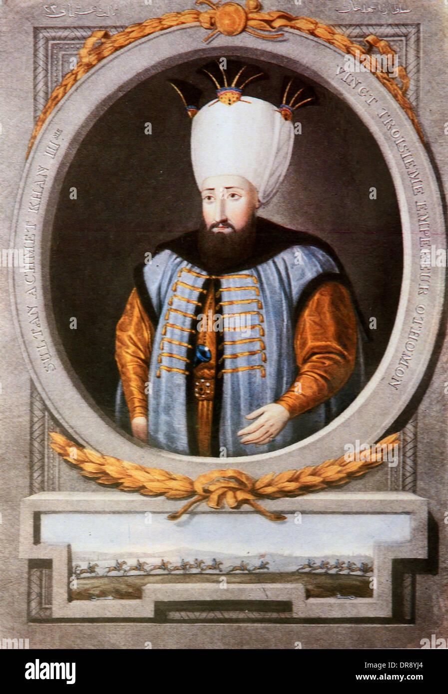 Turkish Ottoman Sultan Ahmed III (1673-1736) Portrait ...