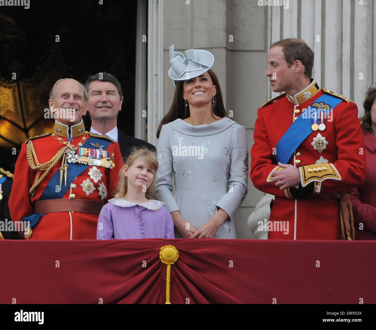 Prince philip duke of edinburgh prince harry catherine the duchess of cambridge and prince william the duke of cambridge attend the 2012 trooping the