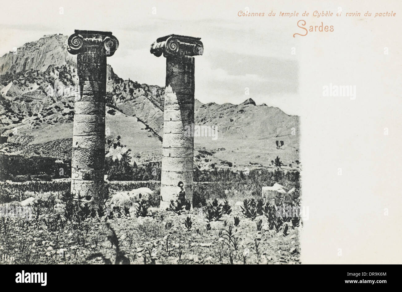 The Ruins of Sardis - Two ionic columns Stock Photo ...