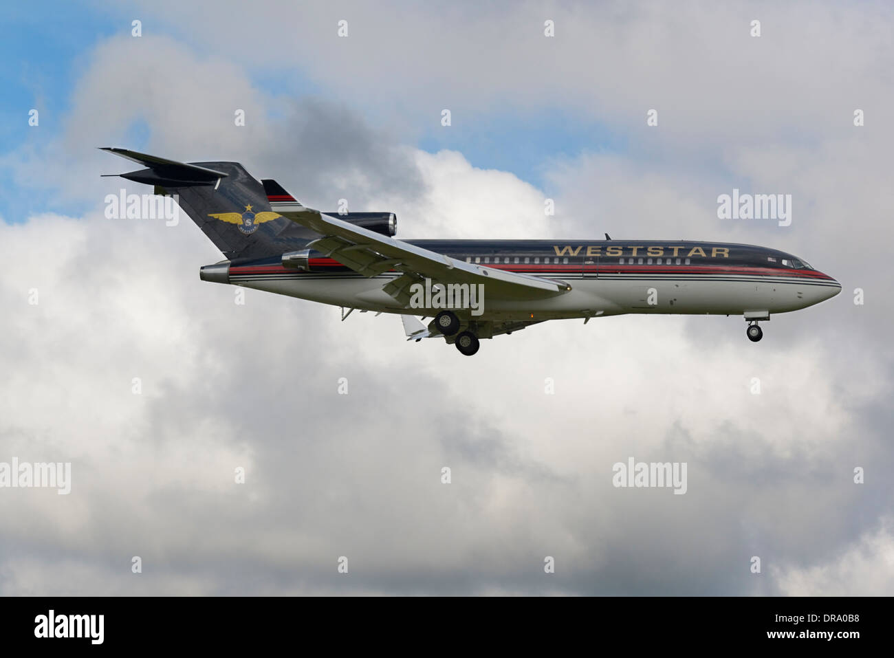 Stock Photo  West Star Boeing 727200 On Final Approach To Runway