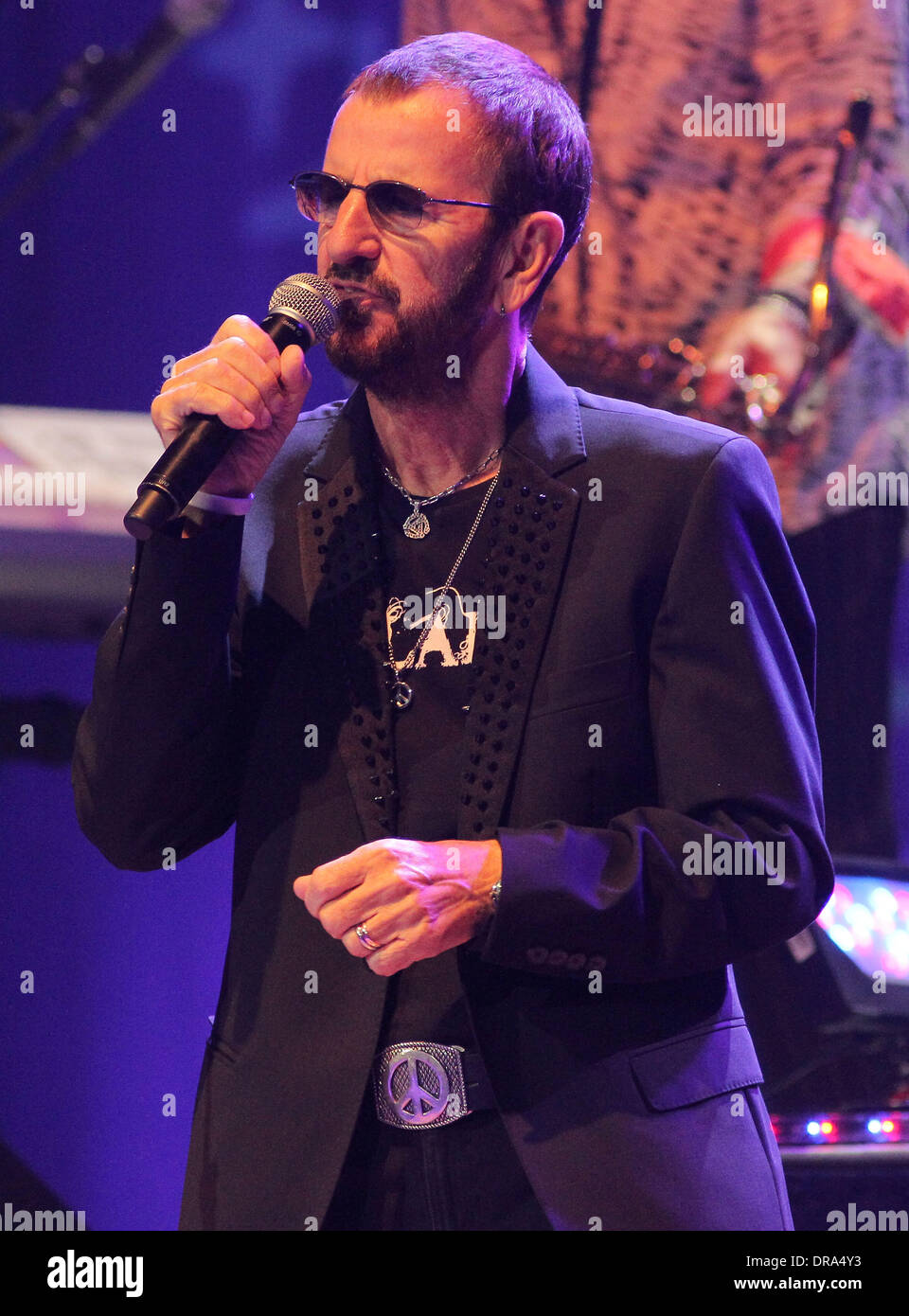 ringo starr and his all starr band perform live at hard rock live at stock photo royalty free. Black Bedroom Furniture Sets. Home Design Ideas