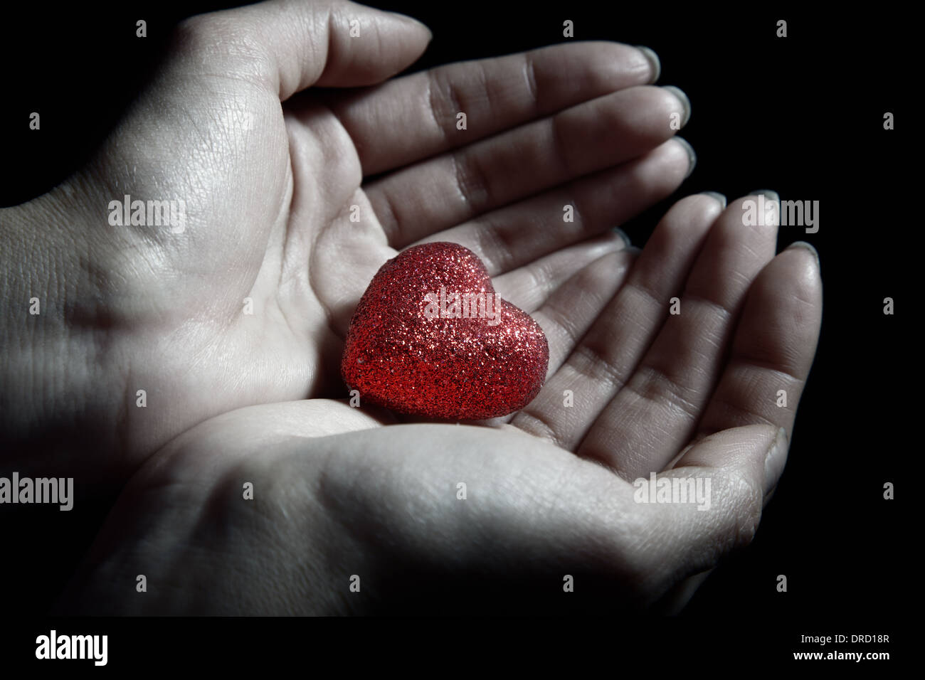 Woman hands holding a small heart as a symbol of love stock photo woman hands holding a small heart as a symbol of love biocorpaavc Images