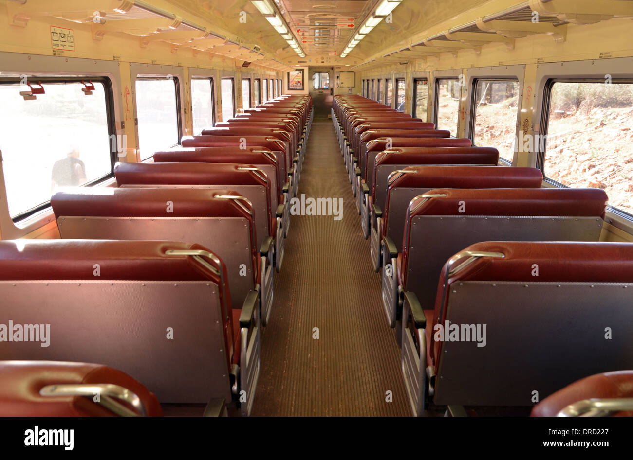Train Carriage Interior Rows Of Seats In A Grand Canyon