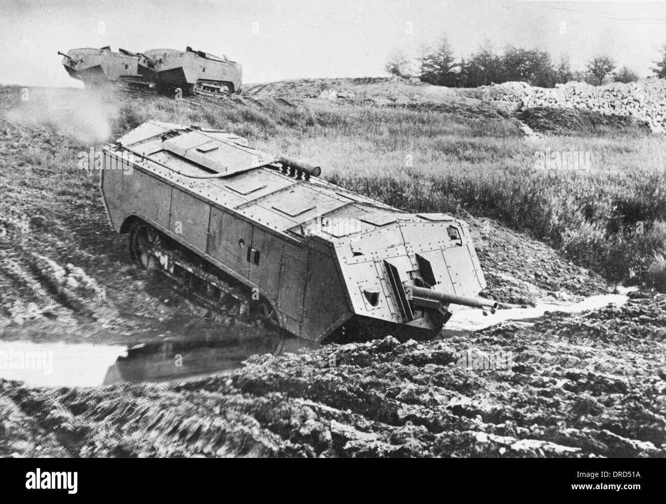 French tank WWI Stock Photo, Royalty Free Image: 66057526 ...