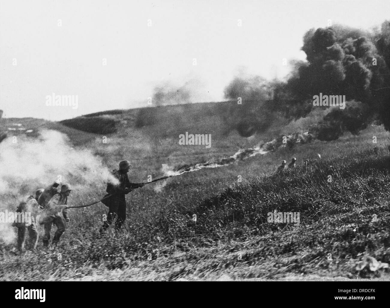 How were flamethrowers used in World War 1  Answerscom
