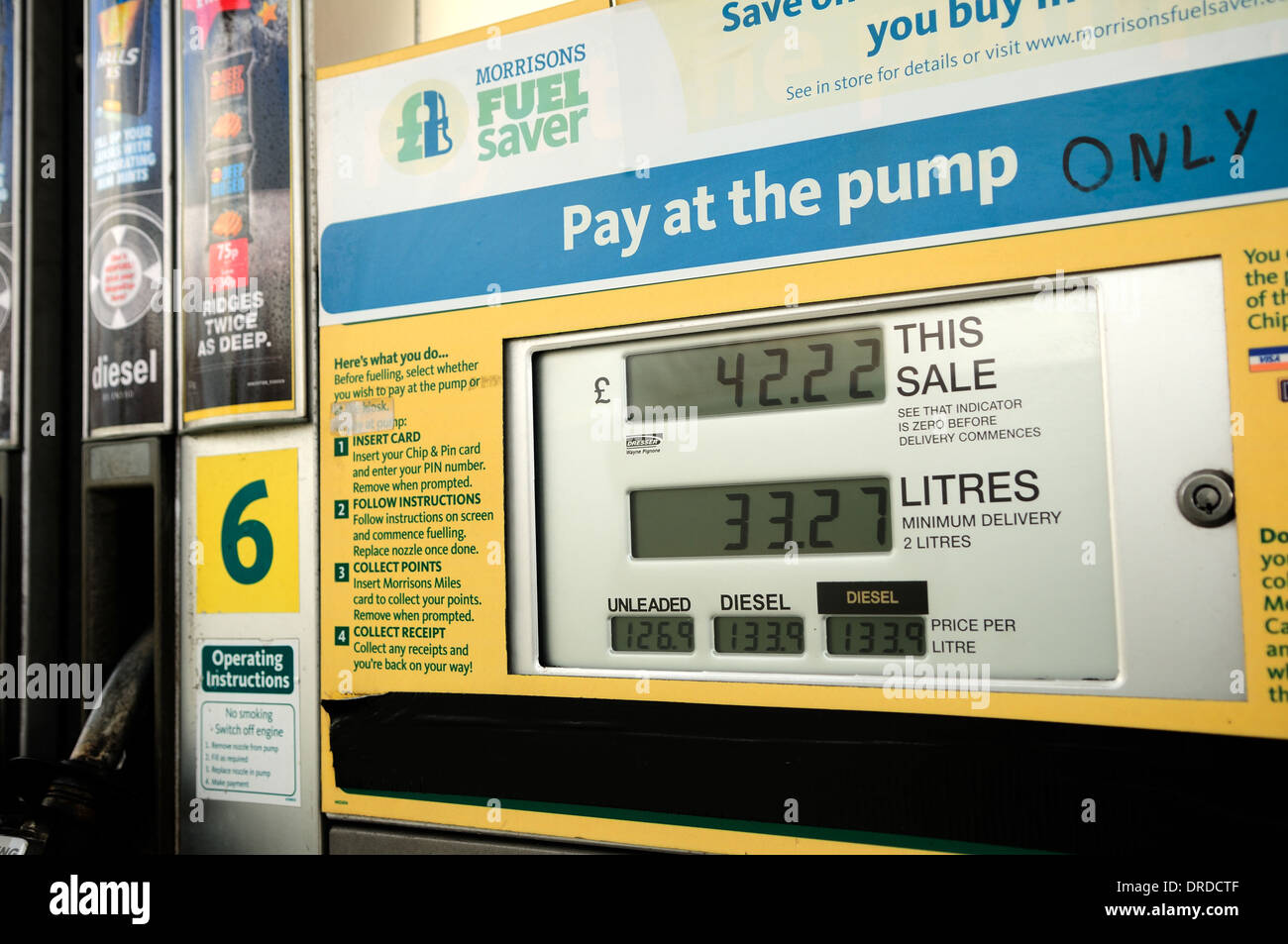 Morrisons fuel pay at the pump Stock Photo, Royalty Free Image ...