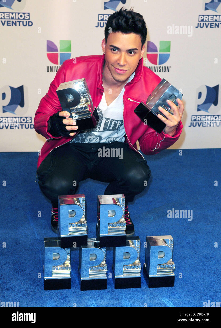 Prince Royce Univision's Premios Juventud Awards at Bank ...