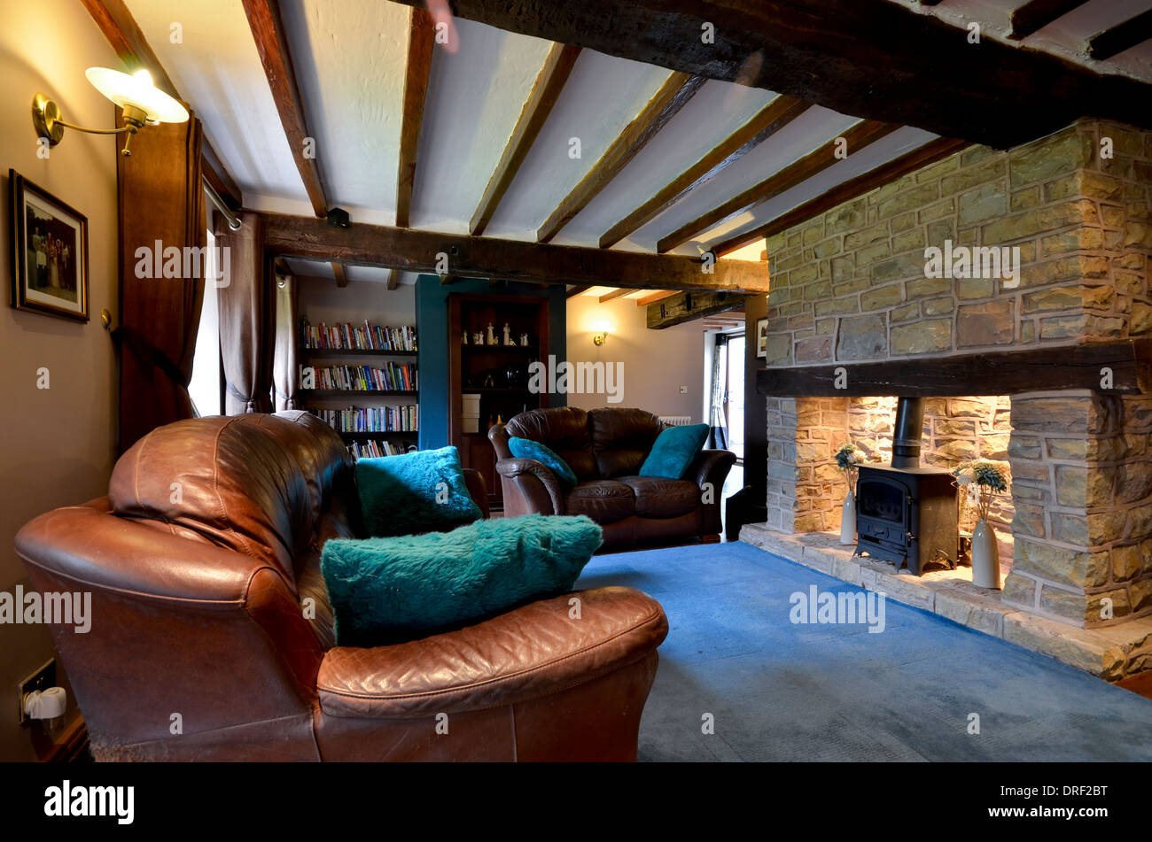 Stock Photo   Traditional Country Cottage Living Room