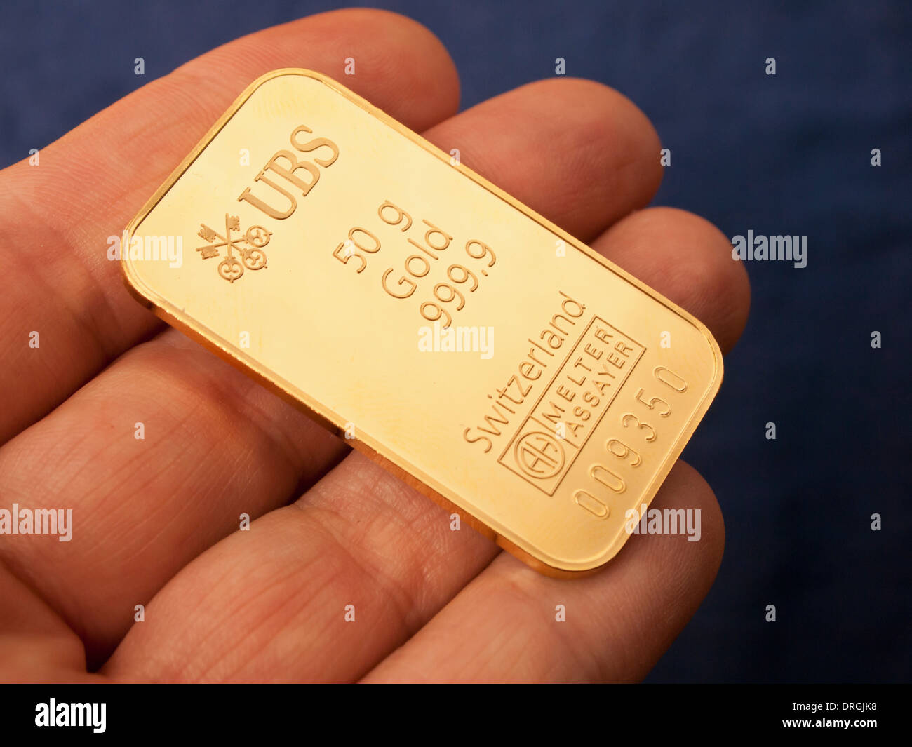 A 50g gold ingot issued by the swiss bank ubs stock photo a 50g gold ingot issued by the swiss bank ubs buycottarizona Image collections