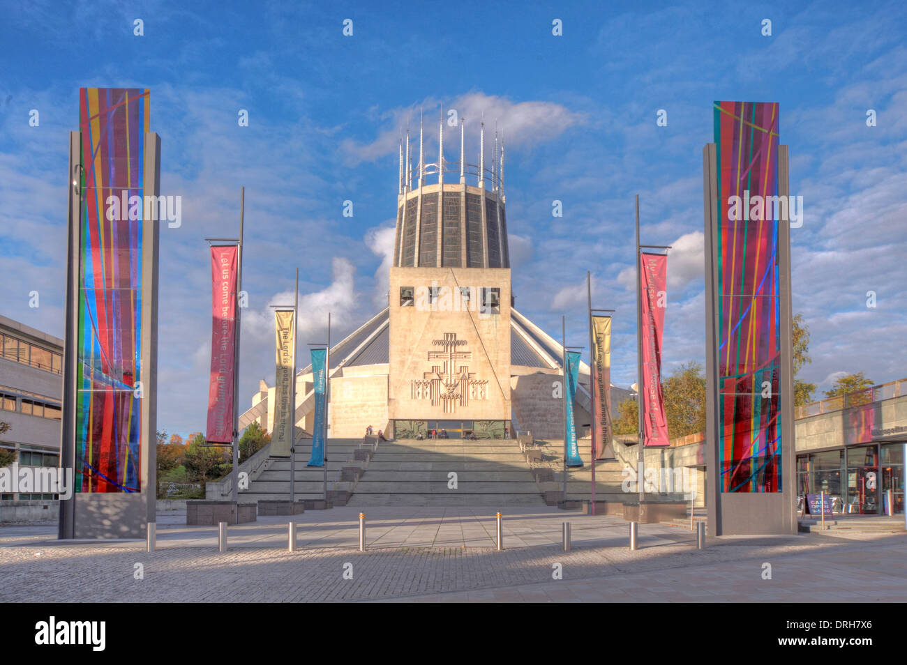 liverpool catholic cathedral of christ the king stock photo