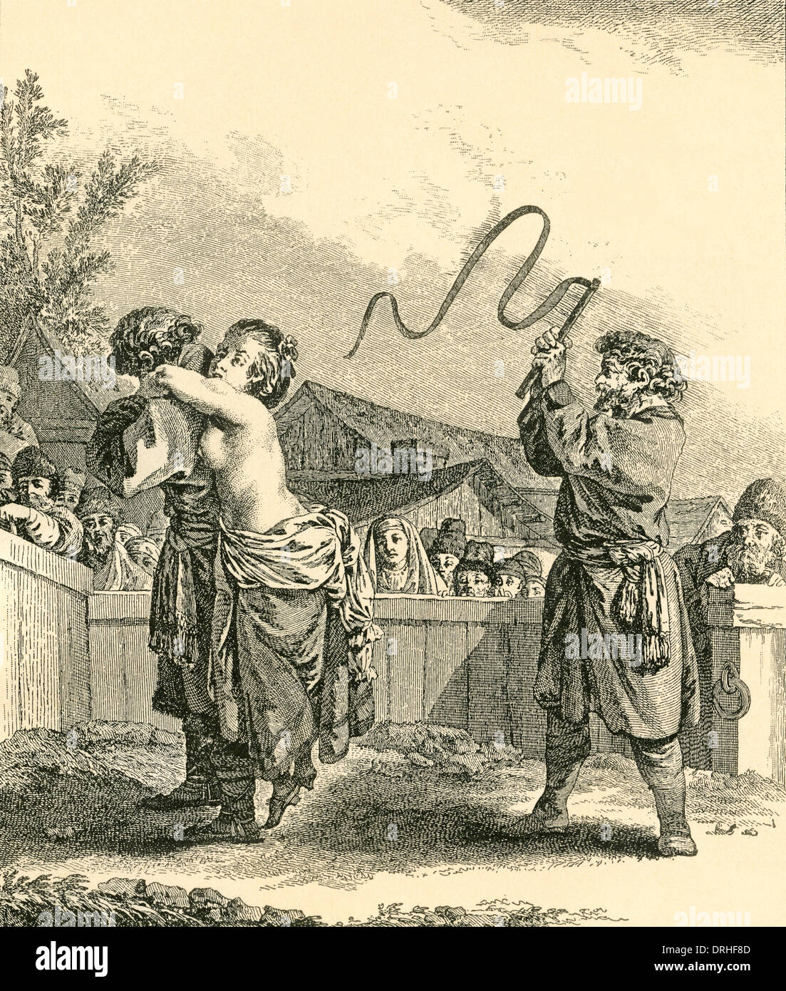 Whipping flogging woman
