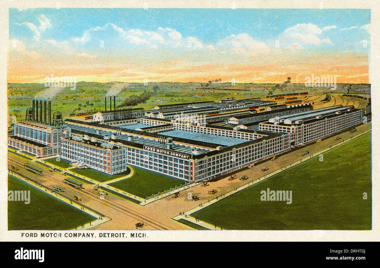ford motor company factory detroit michigan usa stock